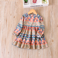 Wholesale Wholesale Kids Fashion Korea - Everweekend Kids Classic Ruffles Autumn Dress Candy Yellow and Red Color Vintage Korea Dress Western Fashion Baby Dress