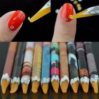 Wholesale Wax Rhinestones Picker - 1Pcs Self Adhesive Resin Rhinestones Picker Wax Dotting Pencil Nail Art Gem Crystal Pick Up Tool Wax Pen