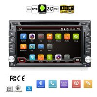 Wholesale Car Auto Stereo Gps - Auto map 2 Din Pure Android 4.4 Car DVD Player Navigation Stereo Radio GPS WiFi 3G CAPACITIVE Touch Screen USB Camera Car PC TV