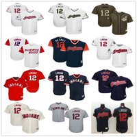 Wholesale Green 12 - Puerto Rico WBC #12 Francisco Lindor Cleveland Indians Grey Gray White Blue 1976 Pull Down Green Majestic MLB World Baseball Classic Jerseys