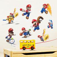 Wholesale Mario Bros Decals - Free shipping New Fashion Super Mario Bros Kids Removable Wall Sticker Decals Nursery Home Decor Vinyl