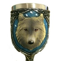 Lovely Wolf Head Calice Tazza in acciaio inox Creativo Spirits Vodka Occhiali Garnett Vino rosso Calice Diamante Bar regalo