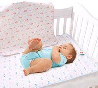 Wholesale Wholesale Change Mat Covers - S-M-L-XL Pink Yellow Blue Cotton Portable Urine Mat Waterproof Baby Infant Bedding Changing Pads Nappy Cover Pad K7068