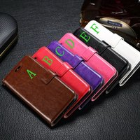 Wholesale Photo Playing Cards - Oil Photo Retro Purse Holder Crazy Horse Wallet Leather Credit Card Stand Flip Case For Moto G5 G4 Plus G4Plus Play G4Play Pouch Skin Cover