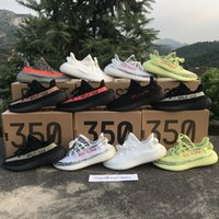 Wholesale Bold Orange - With Box 350 Boost Sply 350 V2 Beluga 2.0 Grey Bold Orange AH2203 Cream White Zebra Bred Kanye West Running Shoes Sports