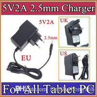 Wholesale Charger A13 Eu - 5V 2A DC 2.5mm Plug Converter Wall Charger Power Supply Adapter for A13 A23 A33 A31S ALL Tablet PC EU US UK plug Retail A-PD