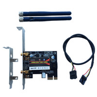 Wholesale wlan card bluetooth - Wholesale- BCM94352Z 802.11AC 867Mbps WiFi&Bluetooth 4.0 PC Desktop WLAN modul Card adapter &2DBI antenna&Bracket For Win7 8 10