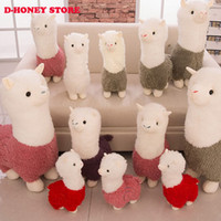 Wholesale Animal Sheep Plush - 35cm Alpaca Plush Doll Toy Fabric Sheep Stuffed Animal Plush Llama Yamma Birthday New Year Christmas Gift For Baby Kid Children