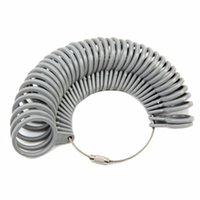 Wholesale Wholesale Plastic Ring Sizer - Wholesale-Finger Ring Sizer Measure Gauge Size Basic Jewelry Tool Plastic Measurement