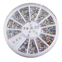 Wholesale Acrylic Nail Art Accessories - New Mix Color Design Nail Art Acrylic nails stickStickers Decals Manicure Beautiful Fashion Accessories Decoration 10 sets Lot B0627