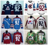 Wholesale Army Camo Uniforms - Wholesale 92 Gabriel Landeskog Jersey Colorado Avalanche Ice Hockey Jerseys Landeskog Uniforms Stadium Series Team Navy Blue White Red Camo