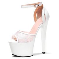 Wholesale White Roman Style High Heels - Fashion sexy female, black dress super 17 cm high heels Roman sandals style fashion shoes