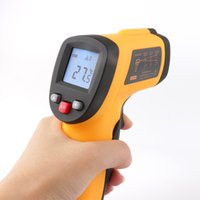 Wholesale Automotive Temperature - GM300 Non-Contact 12:1 LCD display IR Infrared Digital Temperature Meter Gun Mini Thermometer -50~420C Emissivity 0.95 12:1