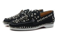 Wholesale Used Women Shoes - Fashion USES leather spike or rivets casual shoes low cut sneakers woman Size: 36-41