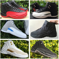 Wholesale Cheap Silver Shoes Rhinestones - New Retro 12 Basketball Shoes Men 100% Original Sneakers Cheap Online J12 XII PSNY French Blue Boots Size Eur 41-47