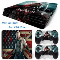 Wholesale Ps4 Cover - Assassin's Creed PS4 Slim Vinyl Skin Sticker Console Skin + 2 PCS Controller Cover Decal Skins For PS4 Slim