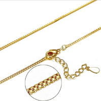 Wholesale China Wholesale Bikes - Gold Plated Box Bike Chains Fashion Pendant Necklace Link Chain For Women and Men Jewelry E03