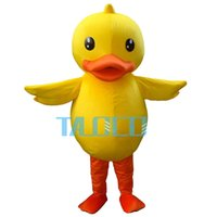 Wholesale Teams Mascot Costumes - Yellow Large Rubber Duck Cute Animal School Team Mascot Costume Fancy Dress