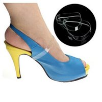 Wholesale Wholesale Platform Pump High Heels - 20 X Pair Clear Invisible High Heels Loose Shoe Straps Platform Wedge Pumps Insole for Dancing Holding Loose Shoes