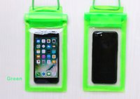 iphone schwimmen fall großhandel-5.5inch 3 Schicht versiegelt PVC wasserdichte Tasche Reise Schwimmen wasserdichter trockener Beutel Strand Tasche Hülle für iPhone