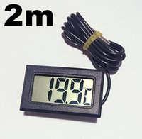 Wholesale Thermometer For Fish Tank - LCD Digital Thermometer Temperature Meter Sense Cable 2M for Aquarium Freezer Fish Tank