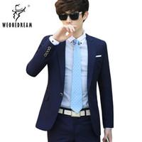 Wholesale Men Wedding Groom Suits - Wholesale- 2017 New Arrival Men Formal Single Button Suit Slim Fit Suit with Dress Pants for Man Mens Suits Wedding Groom Tuxedo