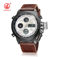 Wholesale Digital Watches For Sale - 2017 Hot Sale Ohsen Brand Causal Quartz Man Male Waterproof Dress Business Wrist Watch Alarm Multifunctional Watch Relojoes For Hombre Gift