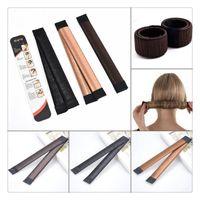 Wholesale Hair Accessories Hairpins Diy - Fashion Hair Ties DIY Styling Tools Hair Wig Accessories Hair Bun Updo Fold Wrap Snap Styling Tool Magic Bun Maker Free Shipping