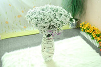 Wholesale cheap decoration for home - 60 Pcs New Arrival Fabric Gypsophila Baby Breath Artificial Silk Flowers For home Decor Wedding Decoration Cheap Sale