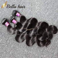 Wholesale Cuticle Hair Extensions Wholesale - Brazilian Body Wave Virgin Human Hair Weaves Bundle Hair Extensions Cuticle Human Hair 3pcs Returned Accepted Bellahair DHL 8A