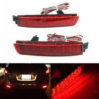 freios refletores led venda por atacado-2x LED Vermelho Traseiro Amortecedor Refletor Luz Nevoeiro Luz De Freio De Estacionamento Lâmpada de Cauda para Nissan Juke Murano Sentra Quest Infiniti FX35 FX37 FX50
