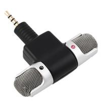 esponjas de micrófono al por mayor-ECM-DS70P Mini Micrófono Digital Estéreo Portátil Micrófono Dual Soundtrack para Grabadora PC Teléfono Móvil Nueva Llegada