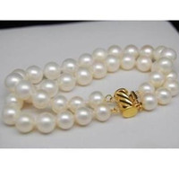Wholesale South Sea Pearls Rings - Charming 9-10mm AAA white south sea pearl bracelets 7.5-8 inch 14k gold clasp