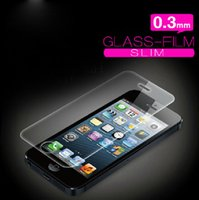 Wholesale Glass Cleaning Products - 0.3mm 2.5D Tempered Glass Clear Screen Protectors For iPhone 5 5S 5c SE HD Toughened Protective Film + Cleaning Ultra Thin Hot Sale Products