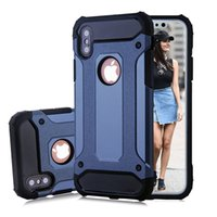 Wholesale Iphone Steel Cases - For Apple iphone X iphone 8 7 plus 6S Samsung note8 S8 plus S8+ S7 edge S6 Steel armor TPU+PC cell phone cases