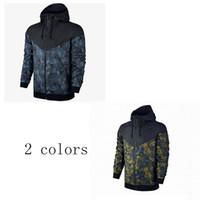 bahar ceketi erkek toptan satış-Ücretsiz kargo Kamuflaj ceket erkek Yeni Adam Bahar Sonbahar Hoodie Ceket erkekler Spor Giyim Rüzgarlık Palto sweatshirt eşofman