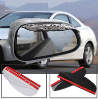 Wholesale mirror board resale online - 2pcs Car Door Side Rear View Wing Mirror Rain Visor Board Snow Guard Weather Shield Sun Shade Cover Rearview Universal Accessories