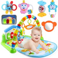 Wholesale Fitness Month - Wholesale- New 3 in 1 Newborn Baby Multifunction Play Mat Music Piano Fitness Gym Play Activity Mats For Kids Children Gift Toys