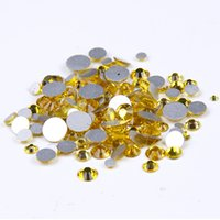 Wholesale Color Citrine Rhinestone - SS3-SS10 And Mixed Sizes Citrine Color Many Sizes Glue On Non Hotfix Crystal Rhinestones Flatback Facets Strass Diamonds Appliques DIY Craft