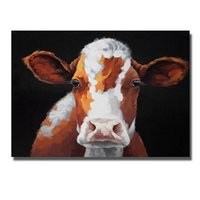 Wholesale Oil Painting Framed Abstract Yellow - Framed Yellow Cow Art,Pure Hand Painted Modern Home Decor Wall Art Oil Painting Quality Canvas.Multi Sizes Available Free Shipping aliMYT