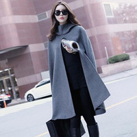 Wholesale Korean Clothing Brands Women - Brand Clothing Women's Cloak Cotton Cape Feminine Woolen Coat Spring Autumn Cardigan Large Size Overcoat Korean Streetwear Female Manteau