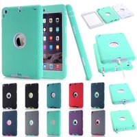 Wholesale Dot Cover Screen Protector - For iPad mini 1 2 3 Retina Kids Safe Armor Shockproof Heavy Duty Silicone Hard Case Cover w Screen Protector Film+Stylus Pen