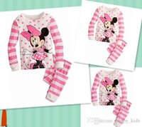 Wholesale Pa Soft - Children's Pajamas Cotton Babies Grils Cute Cartoon Printing Sweet Micky Minnie Sleepwear Soft Breathable Spring and Autumn New Kids Pa