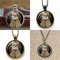 Wholesale Blinking Necklaces Wholesale - 10pcs Doctor Who Inspired Don't Blink Weeping Angel Pendant Necklace keyring bookmark cufflink earring bracelet