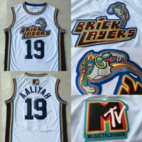 ingrosso jersey rock-Mens di alta qualità 19 Aaliyah Bricklayers 1996 MTV Rock N Jock Movie Jersey 100% cucita maglie di pallacanestro S-3XL trasporto veloce