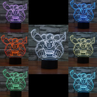 Wholesale dc superman figure online - 2016 Superman Style D Night Lamp Optical Night Light LEDs Night Light DC V Factory