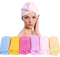 Wholesale Microfiber Towels For Hair - Magic Quick-Dry Hair Towel Hair-drying Ponytail Holder Cap Towel Lady N Microfiber Hair Towel Hot Sale Women Towel for Hair