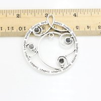 Wholesale Crafts Clocks - 2pcs lot Antique Silver Plated Clock Charm Pendants for Necklace Jewelry Making DIY Handmade Craft 55x49mm