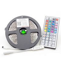 Wholesale 5M RGB LED strip LED Non waterproof and key controller LED strip kit