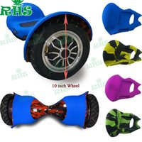 Wholesale Cheap Wheel Scooters - 2016 New products 2 wheel self balancing scooter cheap hoverboard 10 inch silicone case 22colors Free DHL